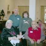 Mannes & Jim Bumstead (front); Tom & Terry Cloud – descendants of Mourad Bumstead, veteran of the Siege of Bexar